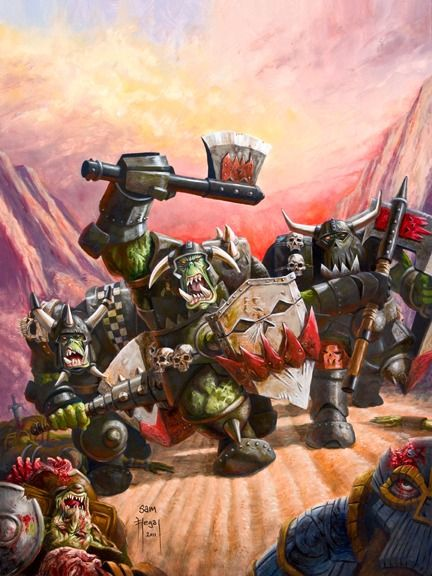 Orc Charge Picture Big By Sam Flegal Samflegal Warhammer Fantasy Warhammer Fantasy Battle Fantasy Miniatures