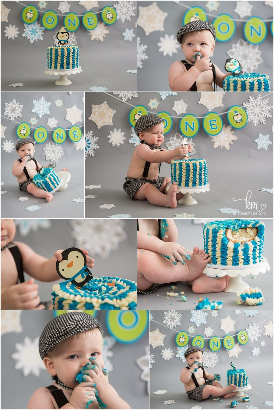 Winter Onederland Cake Smash Pictures For Baby S First Birthday