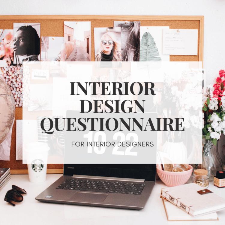 Interior Design Client Questionnaire — Online Interior ...