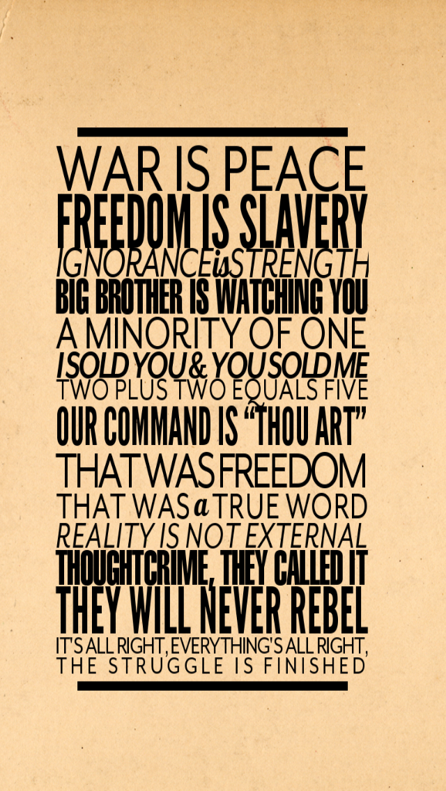 1984 George Orwell Big Brother Quotes