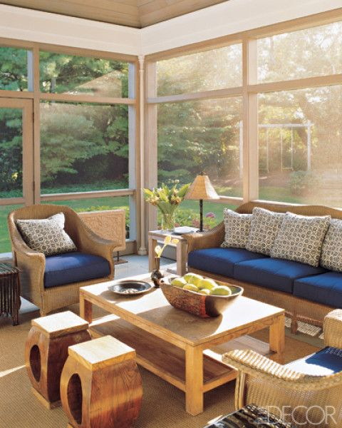 Interior Sunroom Addition Ideas: NAVY AND WHITE (With Images)