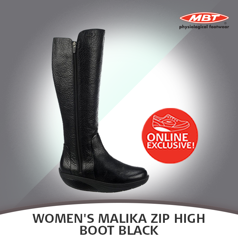 87378e178f1e Check out the exclusive online launch of the New MBT Women s Malika Zip High  Boot Black