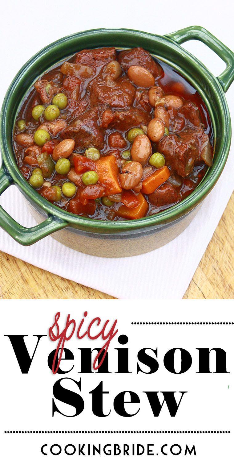 Spicy Venison Stew Recipe Venison Stew Deer Meat Recipes Venison Recipes