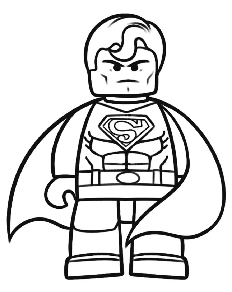 lego superman coloring pages # 1