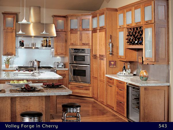 Canyon Creek Valley Forge Cherry Pecan Stain Kitchen