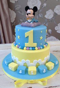 Pleasant D14B59312F67Ee17844Ddca3911Cfe56 236347 Baby Mickey Cake Personalised Birthday Cards Sponlily Jamesorg