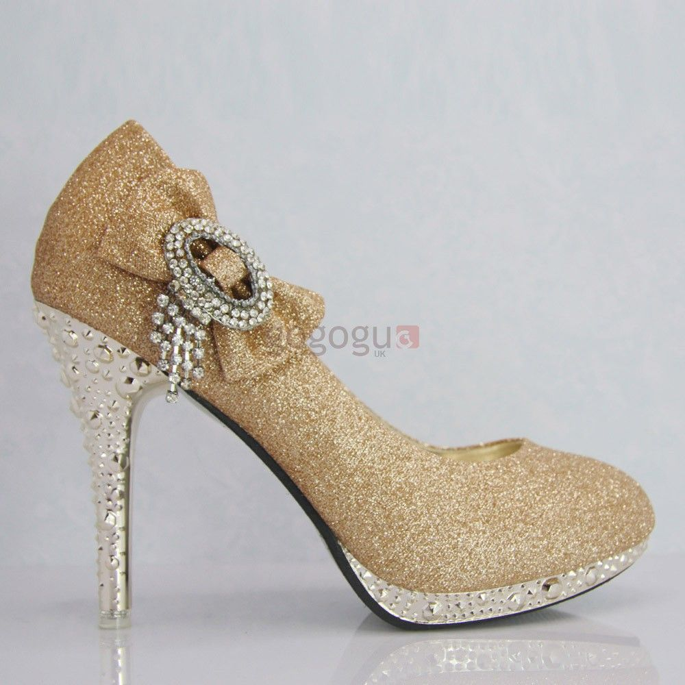 Wedding shoes, bridal shoes, wedding shoes gold dress shoes | Shoes ...