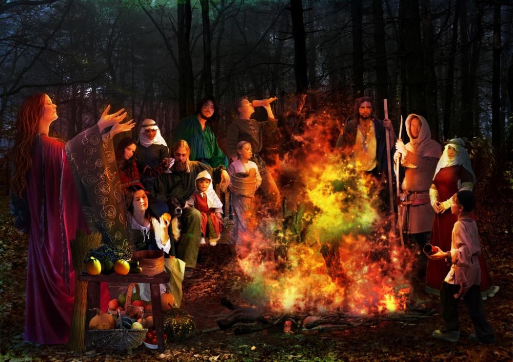 Samhain Celtic New Beginning. Origin of halloween