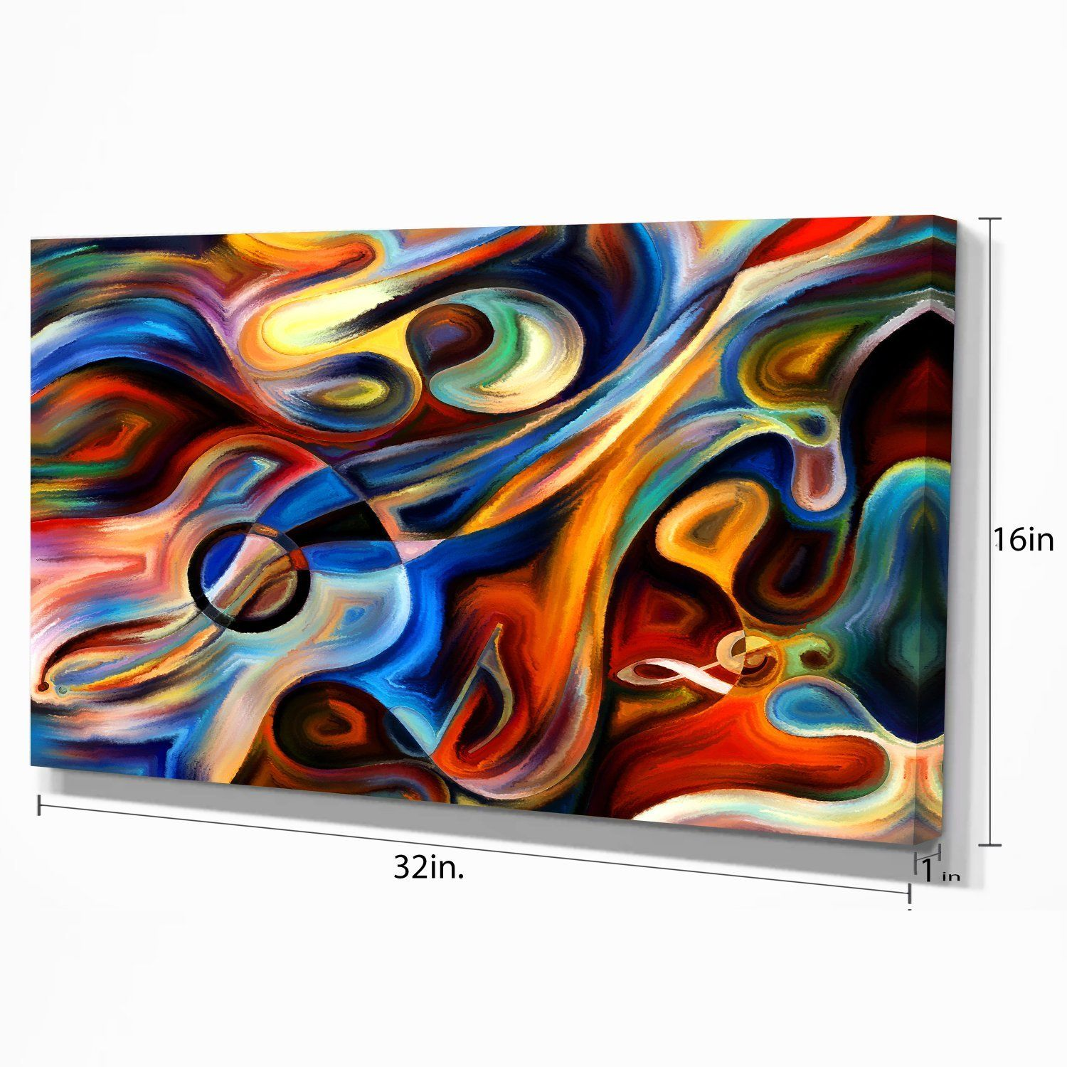 Abstract Music And Rhythm Abstract On Canvas Art Wall Photgraphy
