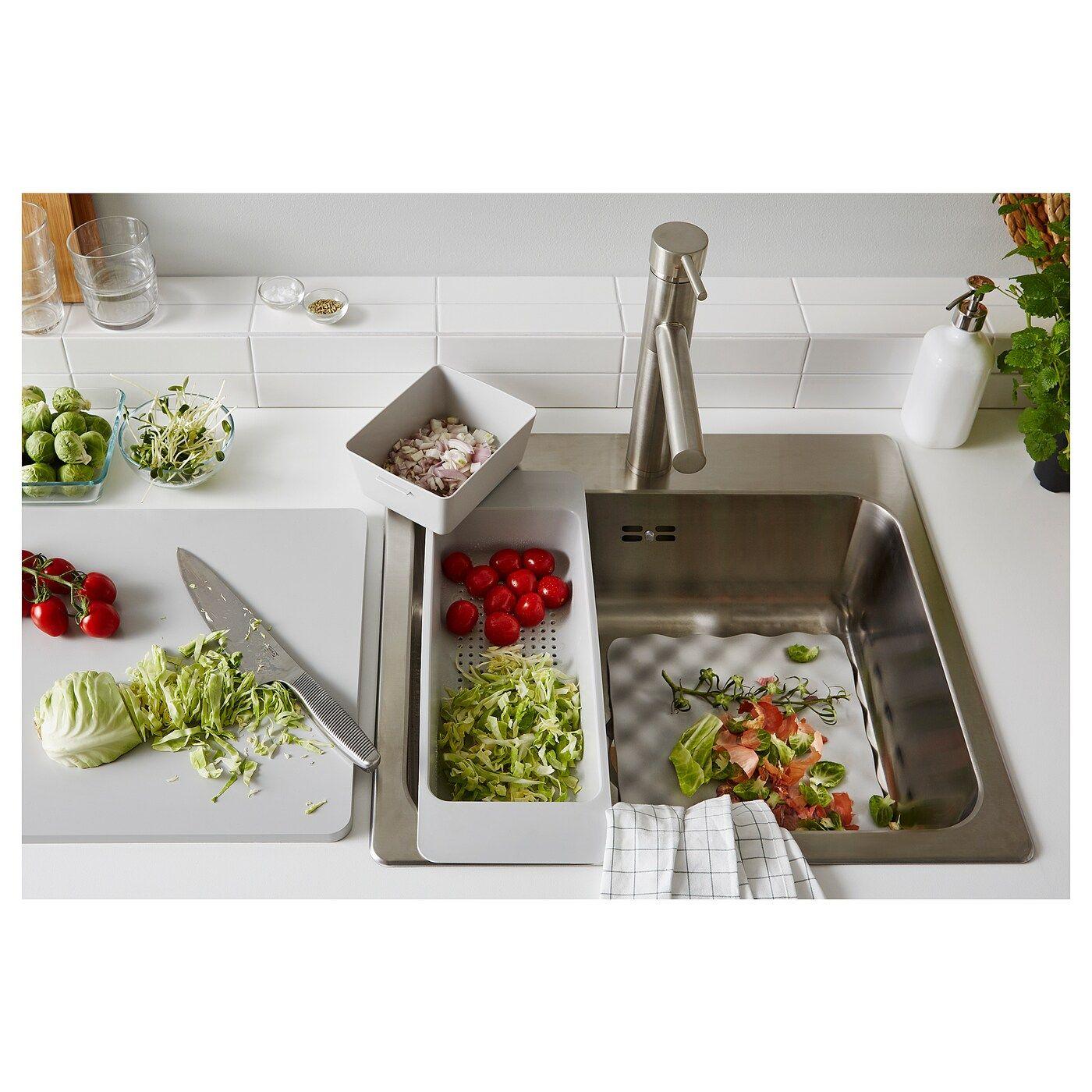 GRUNDVATTNET Durchschlag grau  Ikea, Box ikea und Reinigungsmittel