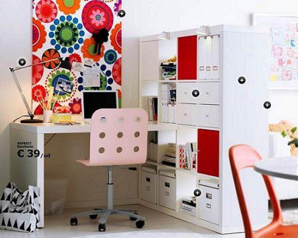 Ikea expedit colorful home pinterest escritorio ikea - Estanterias separadoras de ambientes ...