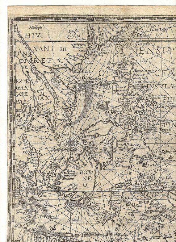 Spice Islands 10, Borneo, Antique world maps, Old World Map - new antique world map images