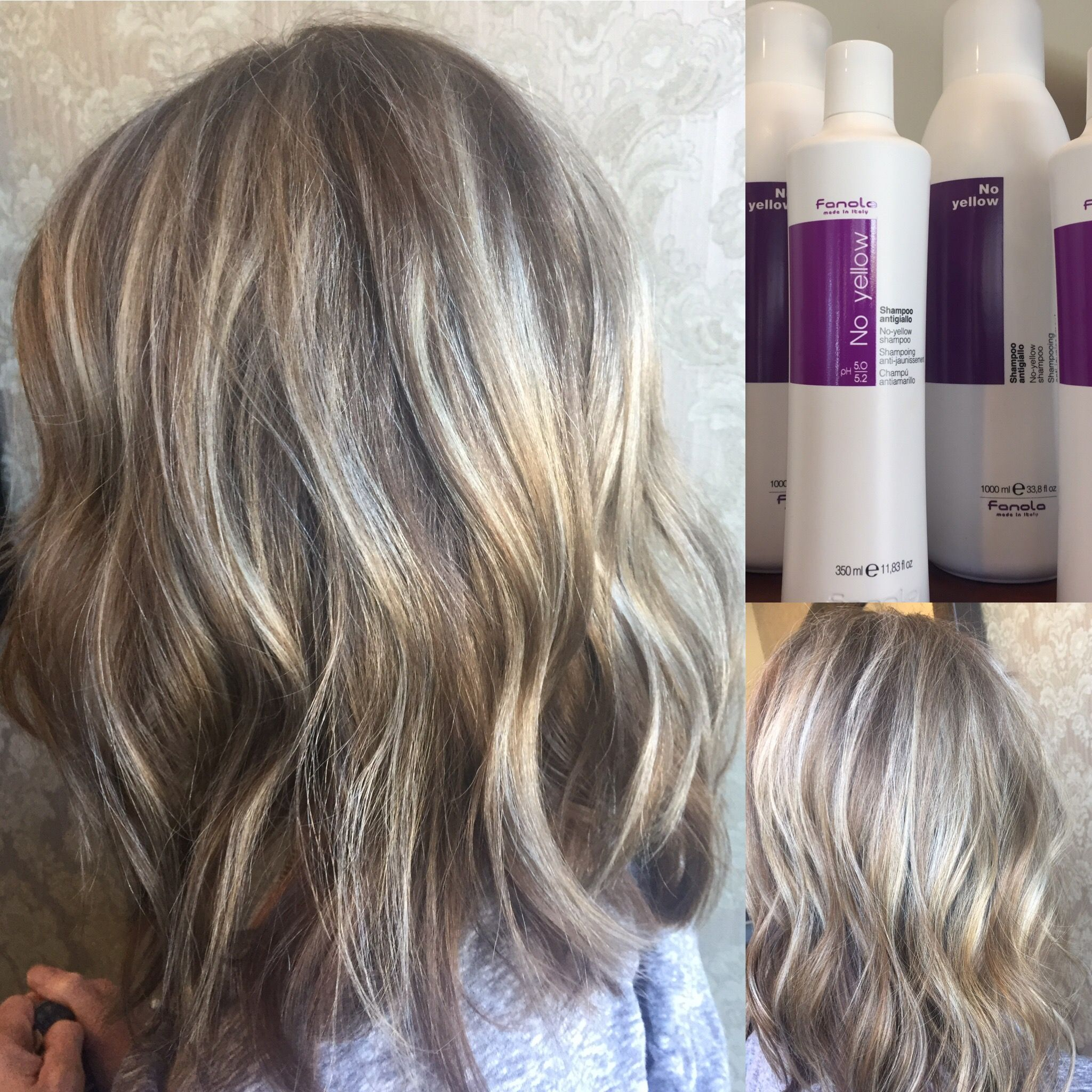Icy Blonde Long Bob Lob Platinum Blonde Light Blonde Fanola No Yellow Shampoo Purple Shampoo