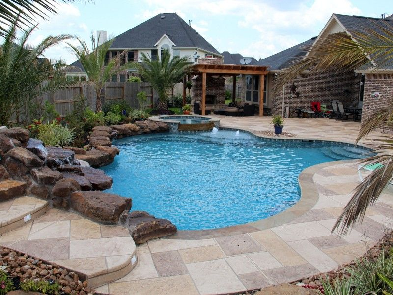 Natural Free Form Swimming Pools Design 298