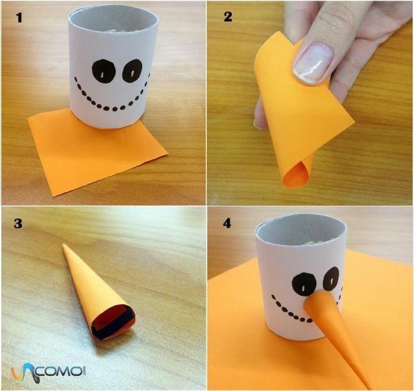 Comment faire un bonhomme de neige en papier porte g teau no l d corations et diy - Comment faire un bonhomme ...