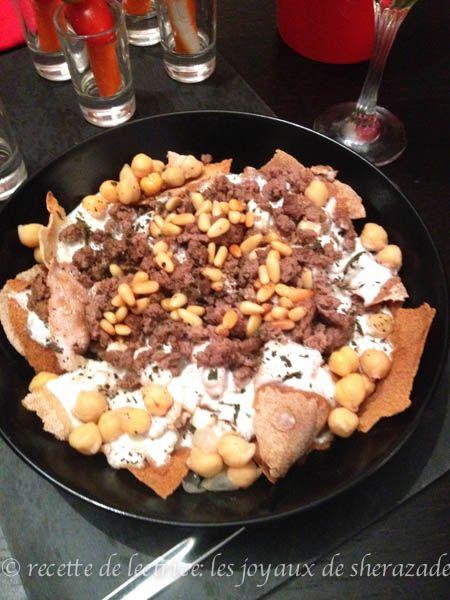 Cuisine libanaise fateh libanaise recette salty viande volaille pinterest cuisine - Cuisine libanaise recette ...