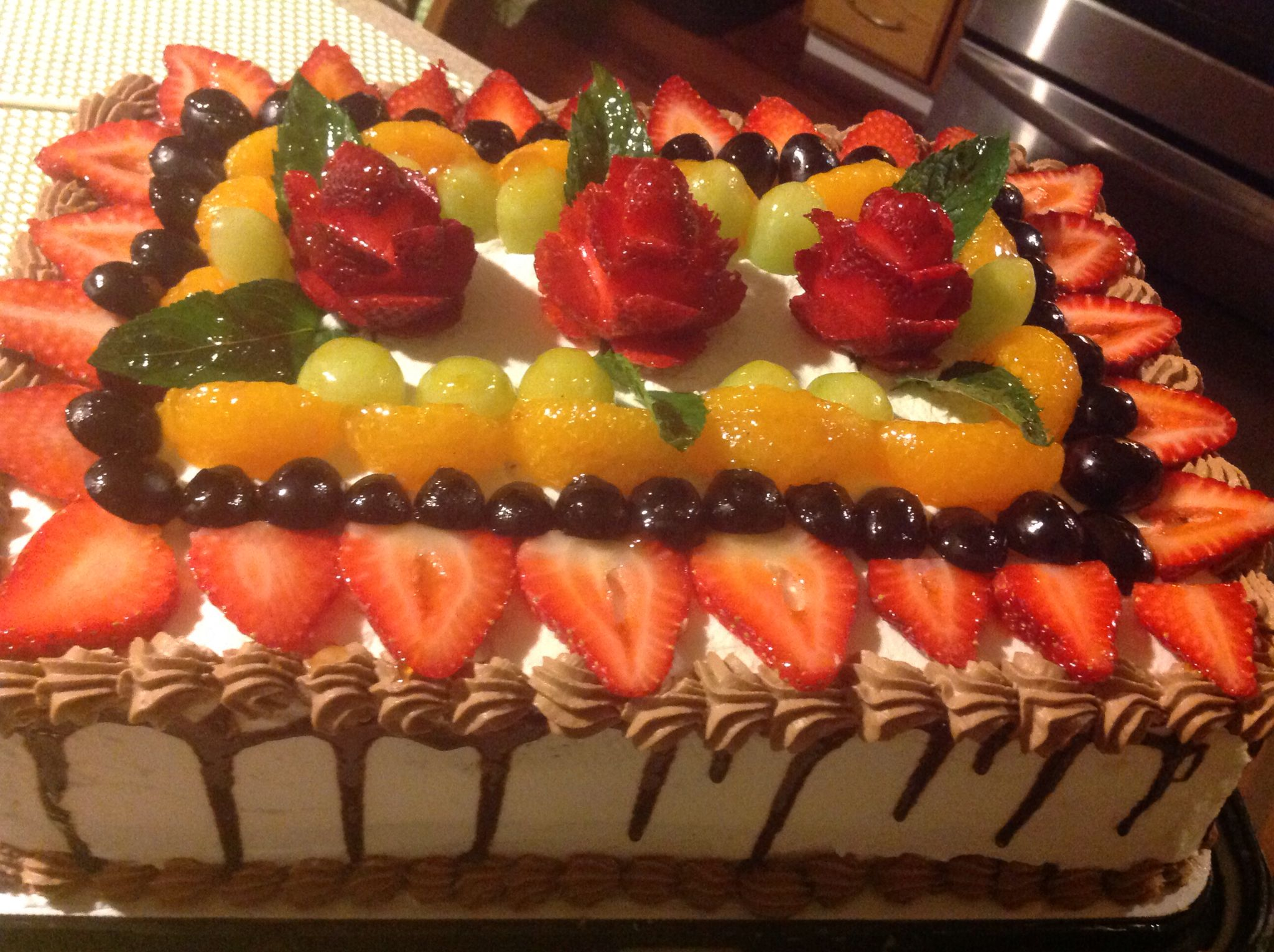 Pastel De Tres Leches Fresh Fruit Cake