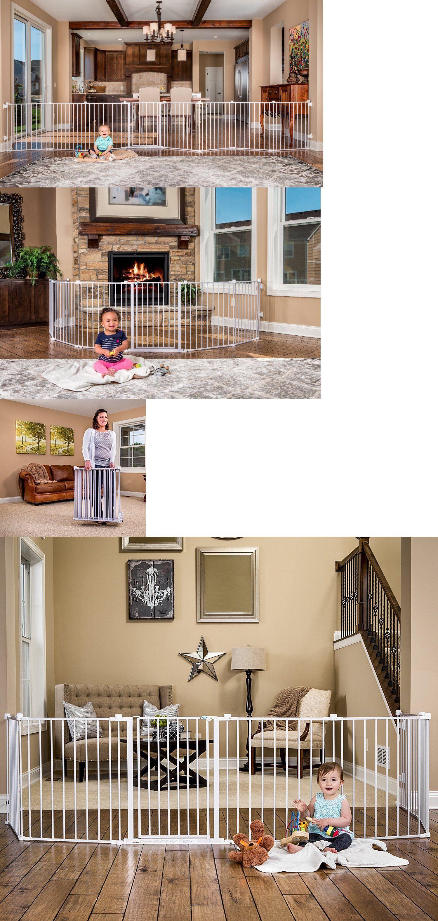 Safety Gates 117029 Baby Gate Extra Wide Long Walk Through Dog Pet