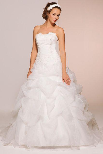 a7b37f11e64df Robe de mariée bustier ivoire