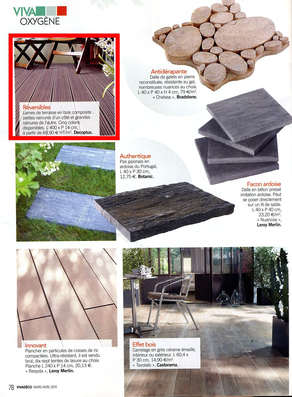 Decoplus In The Latest Issue Of Viva Deco Magazine Press Interior Decoration Terrasse Bois Composite Lame Terrasse Terrasse Bois