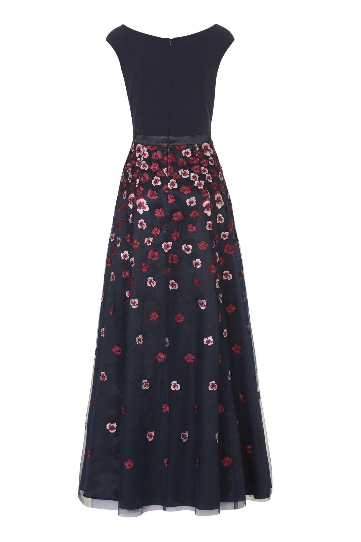 Wunderschönes Blütenkleid von Vera Mont in Dunkelblau ...
