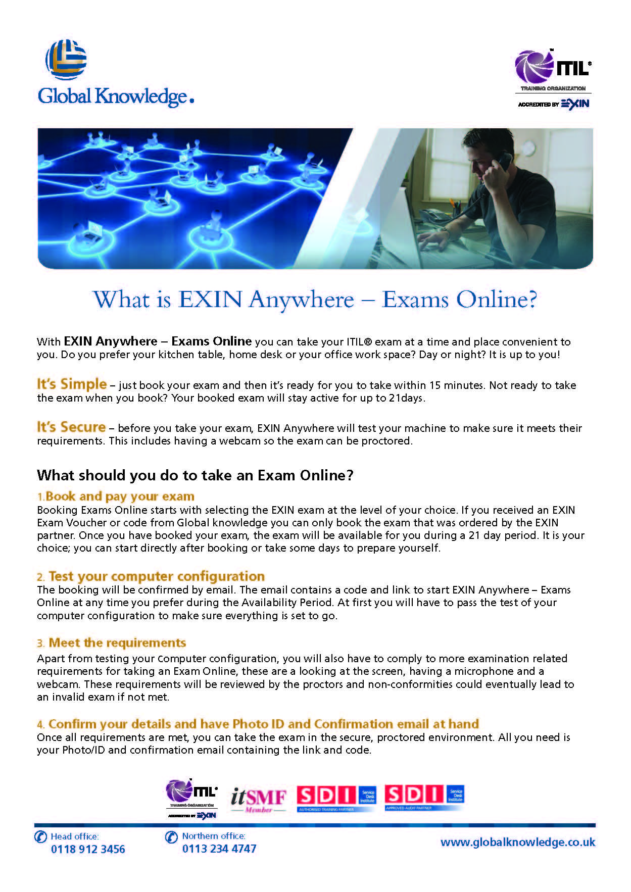 With Exin Anywhere Exams Online You Can Take Your Itil Exam At A