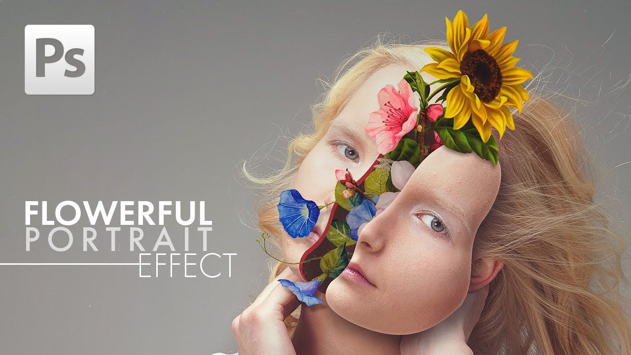 Adobe video tutorial flowerful portrait effect photoshop flowerful portrait effect photoshop tutorial baditri Choice Image