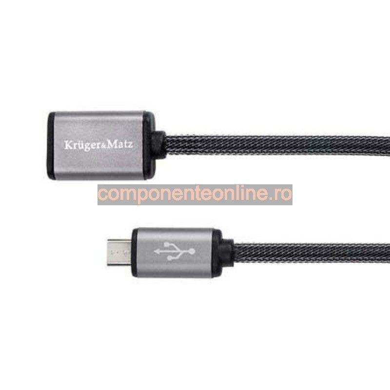 Cablu USB mama - micro USB, 0,2m, Kruger&Matz - 402168
