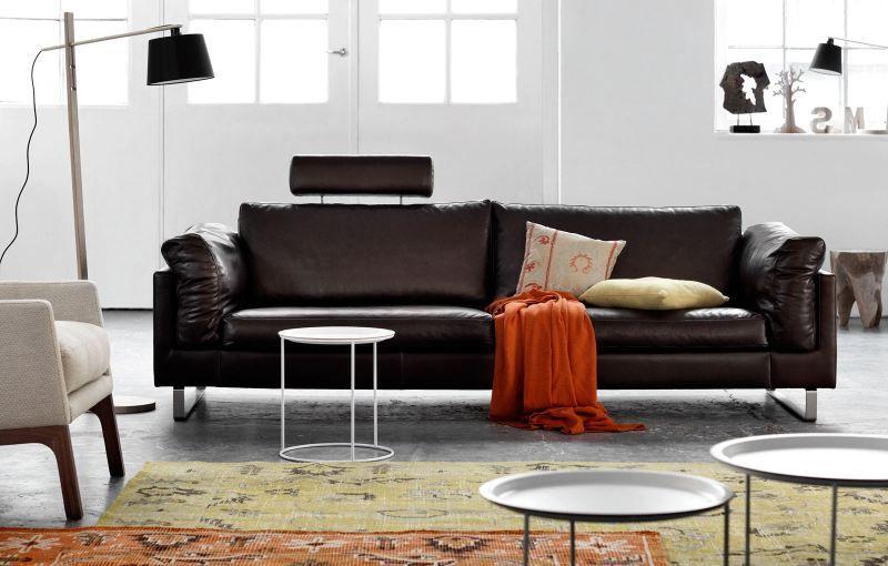 canap en cuir marron fonc indivi 2 boconcept mobilier rembourr upholstered furniture. Black Bedroom Furniture Sets. Home Design Ideas