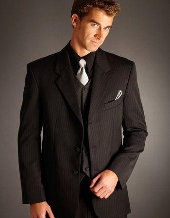 Minus pinstripes. groomsmen w/ blue ties, Oliver w/ white ...