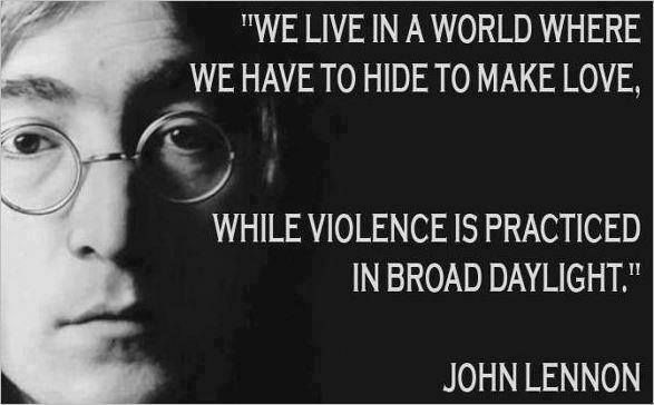 we live in a world - john lennon