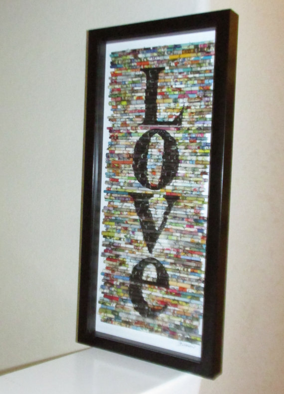 Anniversary, Wedding, Modern wall art, Modern recycled art ...