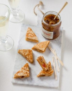 Mini croque foie gras mi-cuit et confiture de Noël | La Bonne Box