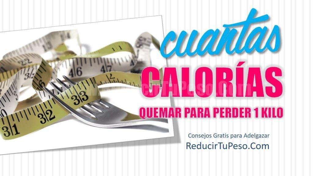 cuantas calorias hay que quemar para bajar de peso