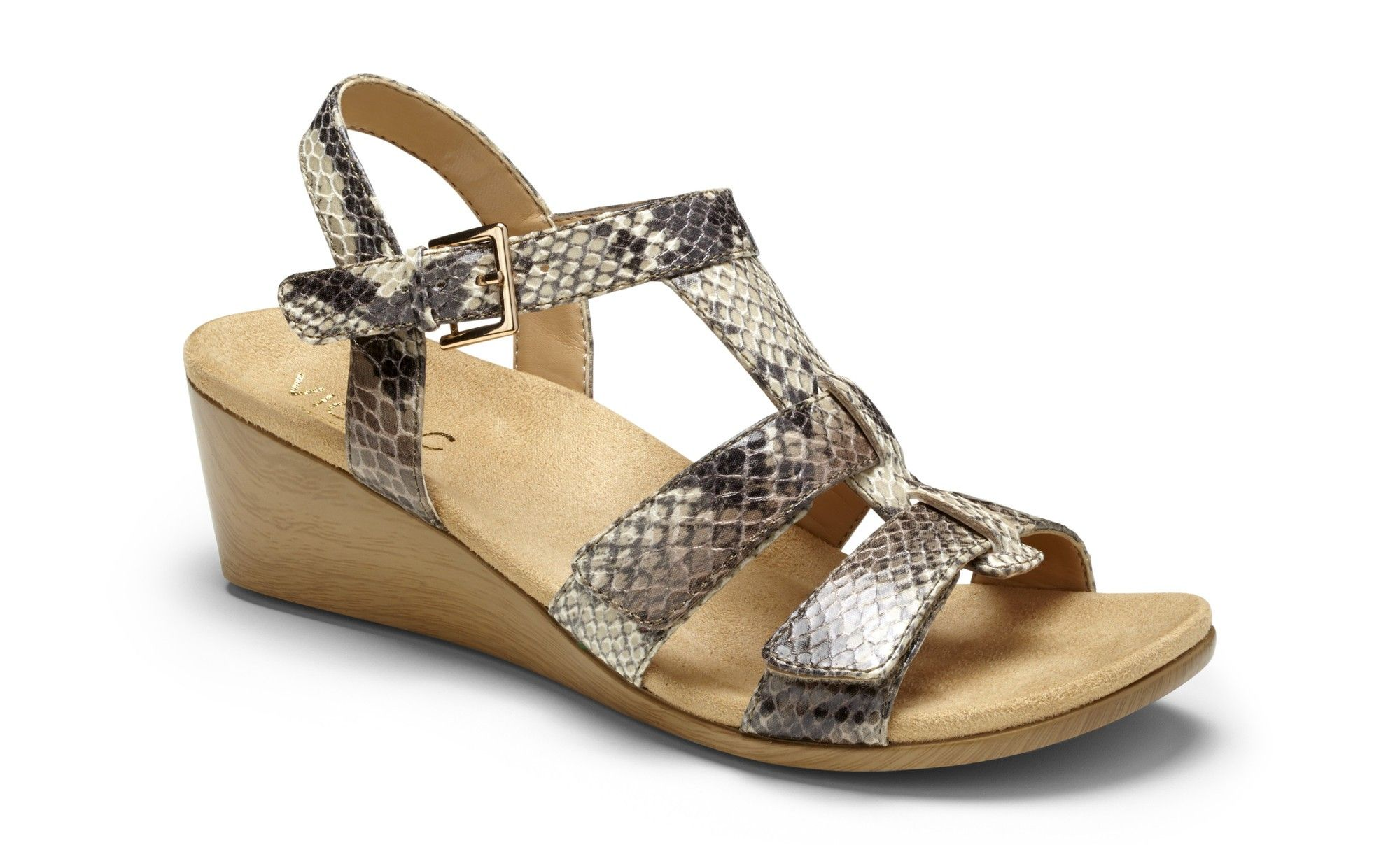 de7801e89a9 Glenda Wedge Backstrap Sandal
