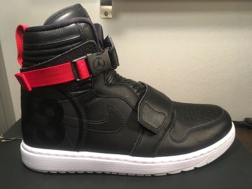 on feet at clearance sale new high NIKE AIR JORDAN 1 MOTO SHOES MENS HIGH BLACK/ GYM RED AT3146 ...