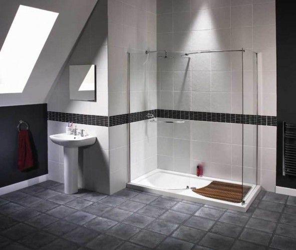 Bathroom Nice See Through Walk In Shower Ideas For Elegant Attic Bathroom With Dormer Bathroom Design Small Small Bathroom Floor Plans Modern Bathroom Design