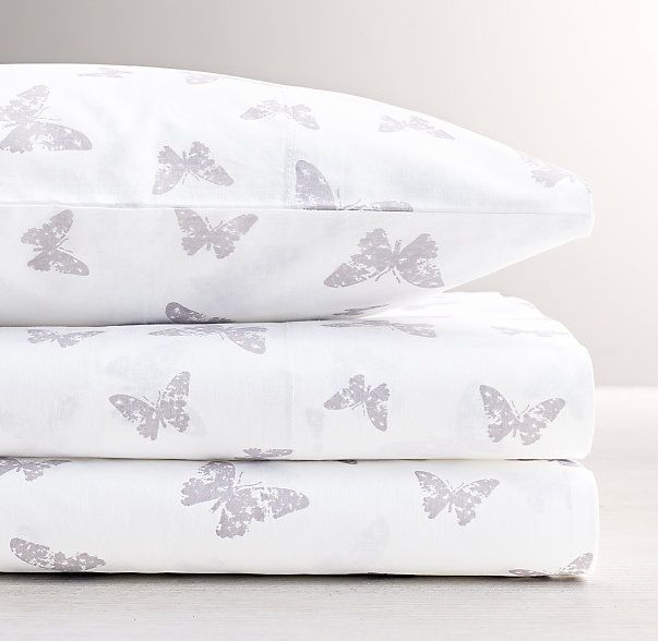 Stamped Butterfly Standard Pillowcase
