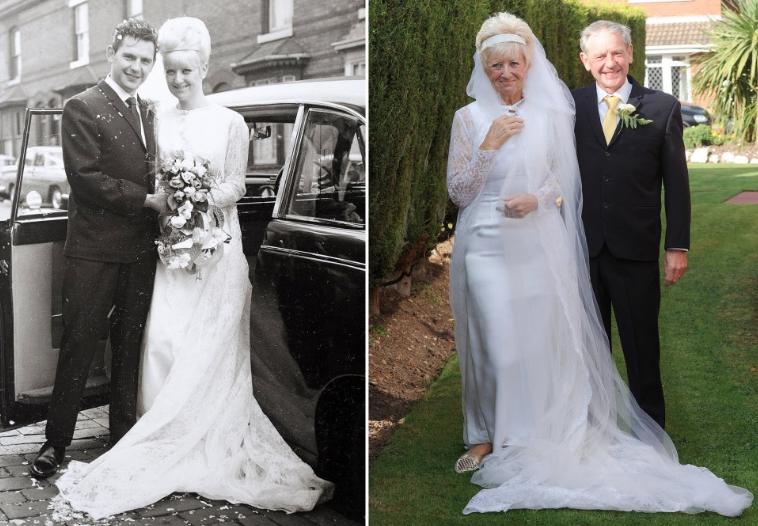 Celebraron 50 años de casados usando los mismos trajes del día de su ...