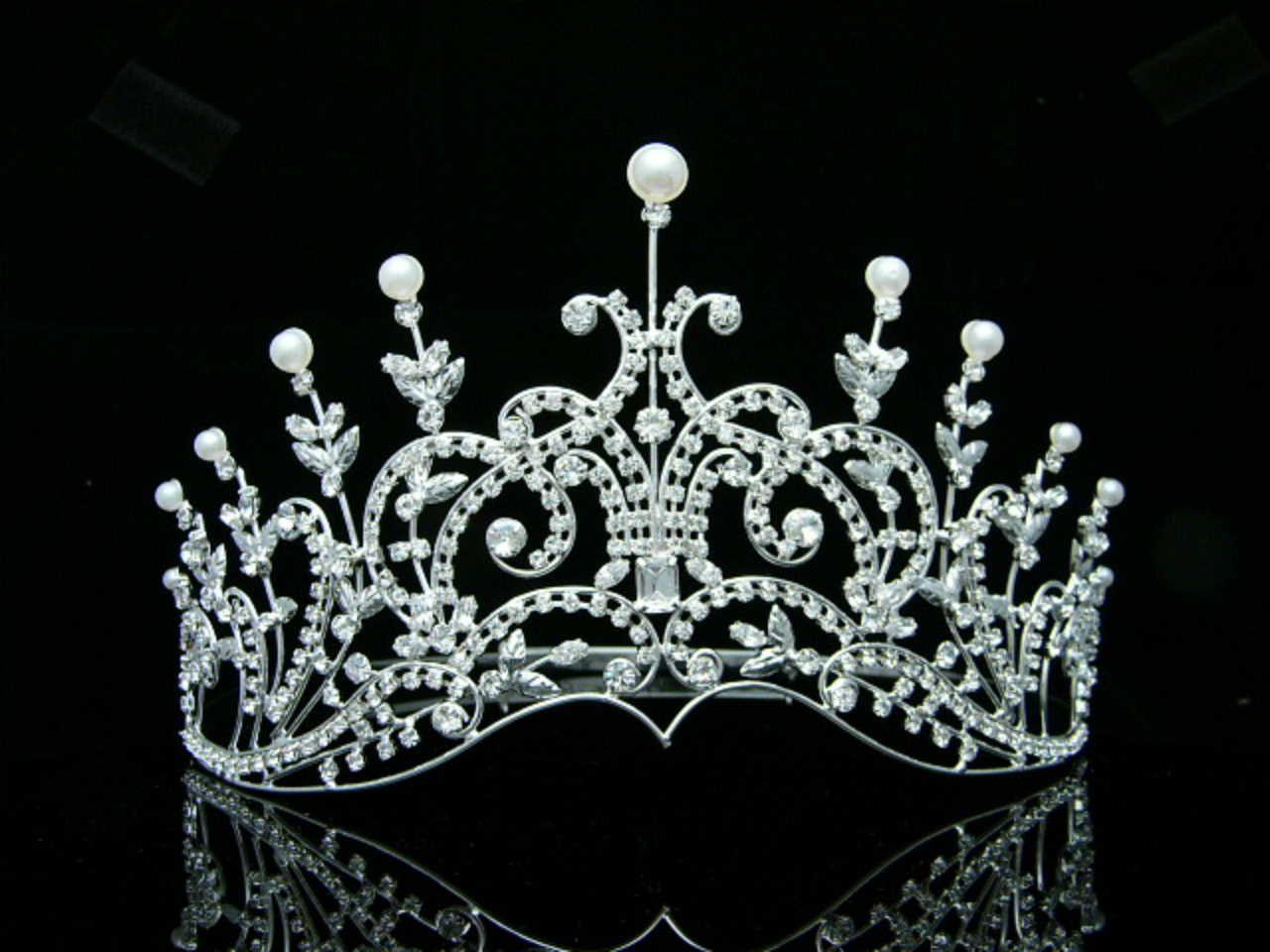 Très eBay | BIJOU MARIAGE DIADEME Miss Sud de France Cristal perles  SF99