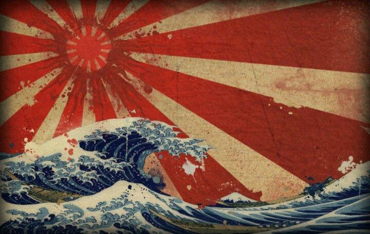 Rising Sun Great Wave Rising Sun Tattoos Japanese Art Japanese Waves