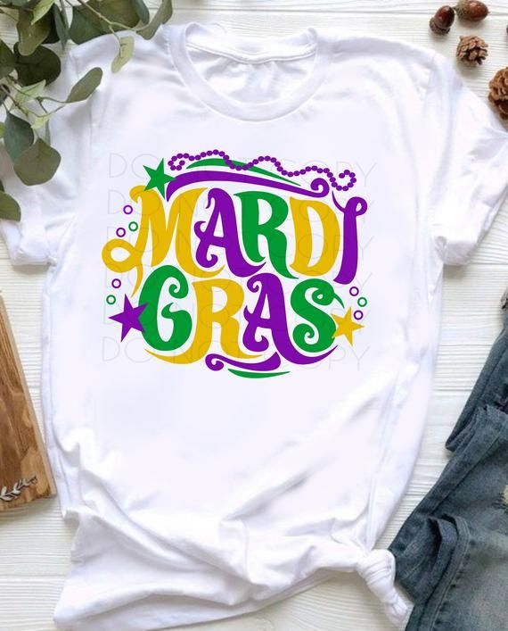 Mardi Gras SVG Cut and Print File for Cricut, Silhouette, vinyl cutters, printers, etc. Svg, Dxf, Eps, Ai, Jpg , Pdf and Png digital files.