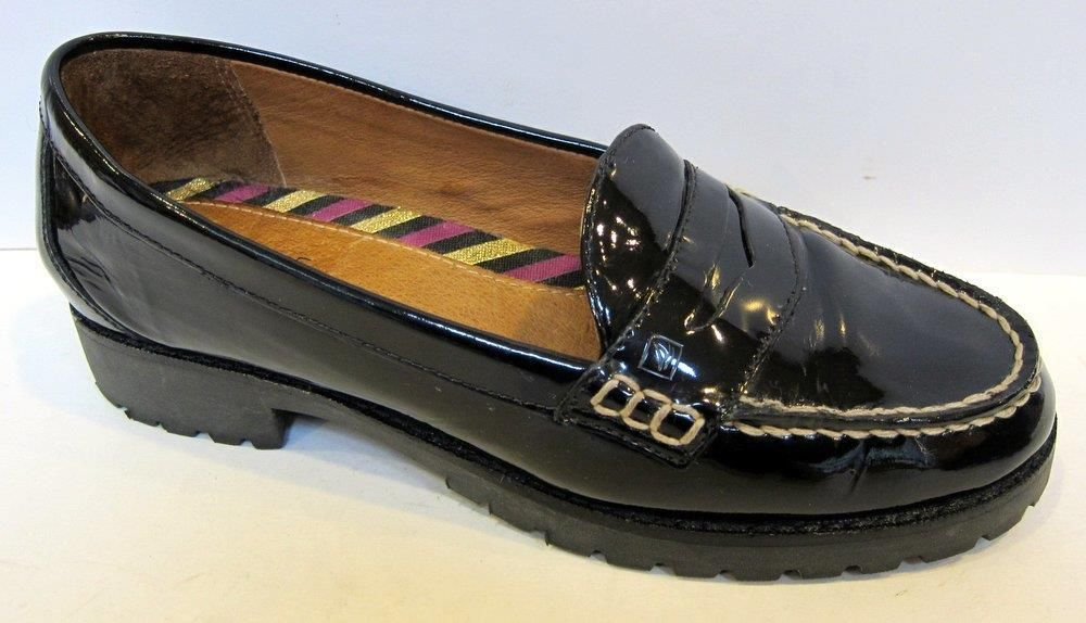 7db9e85a85d Sperry Top-Sider  Winsor  Black Patent Leather Loafer Size 6.5M   SperryTopSider  LoafersMoccasins