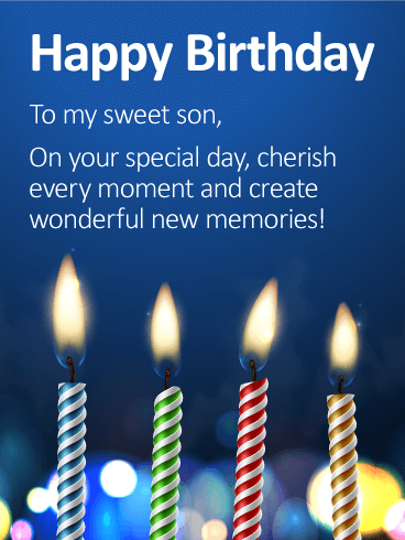 To My Sweet Son