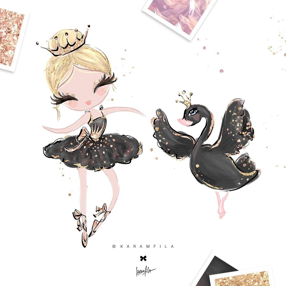 Pin By Rawan On Dans World Ballerina Clipart Baby Girl Clipart Cute Illustration