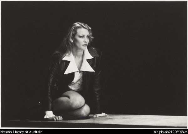 McFarlane, Robert, 1942- Actor Cate Blanchett in Stephen Sewell's 'The Blind Giant is dancing', Belvoir Street Theatre, 1995 [picture]
