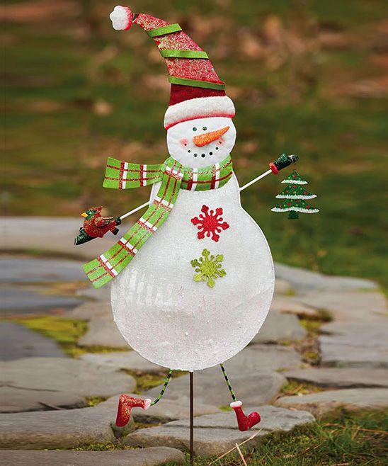 Ditsy Dots Snowman Garden Stake *Christmas Stuff* Pinterest - outdoor snowman christmas decorations