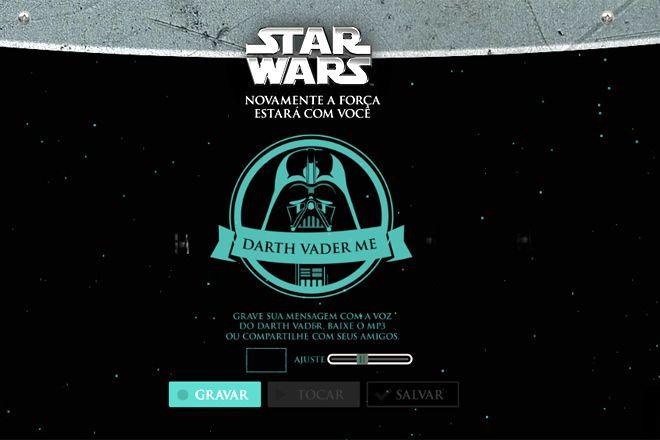 Que tal deixar sua voz igual a de Darth Vader, de Star Wars? Experimente aqui http://www.bluebus.com.br/deixar-voz-igual-darth-vader-star-wars-experimente/