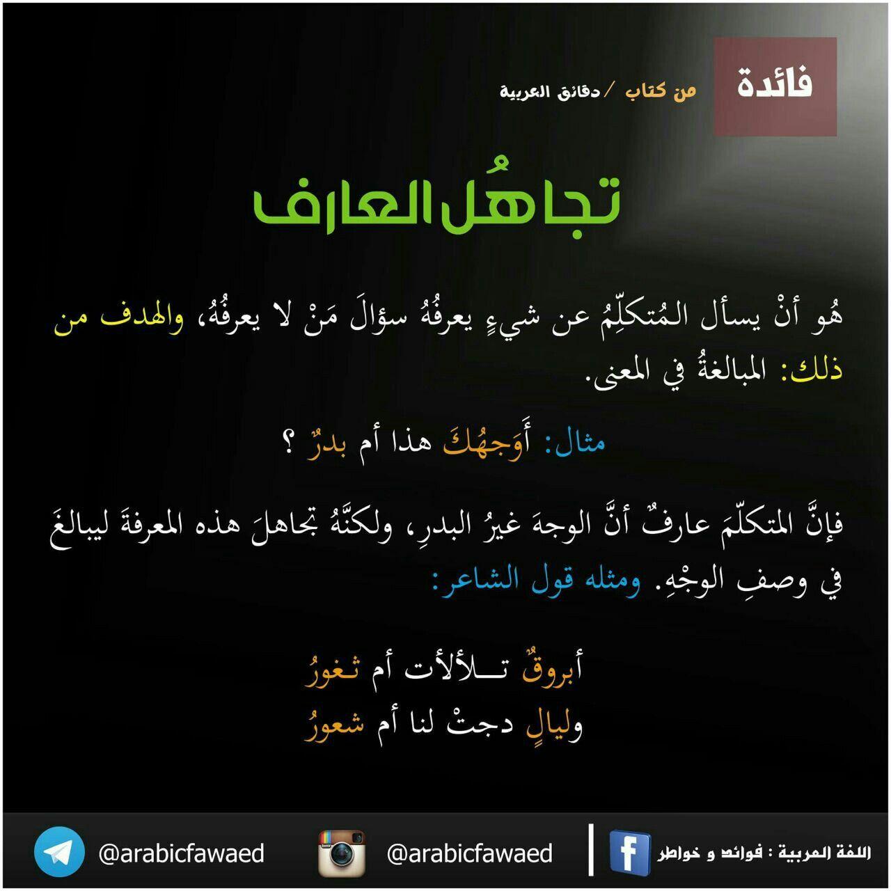 تجاه ل العارف Arabic Language Language Quran