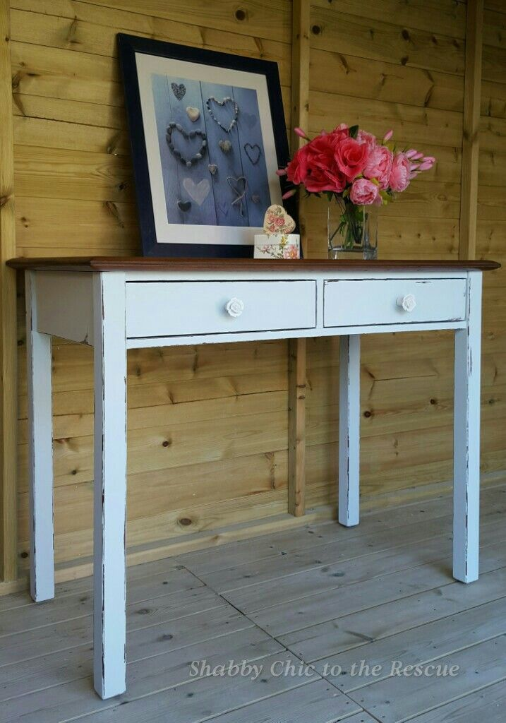 Lovely console table in Crystal Blue chalk paint,distressed for ...